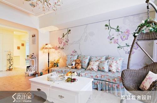 秘技2:客厅 idea:洗白木家具+手工感材质