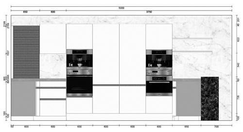 厨房高柜效果图欧式