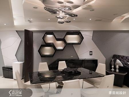 房屋幾何圖形黑白