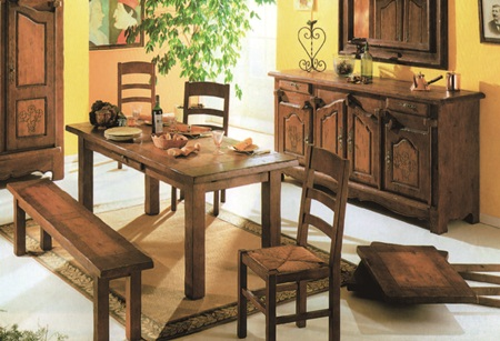 自然简朴的原木家具