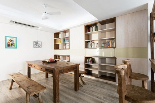家庭儿童读书区