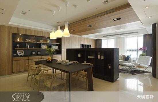 设计师结合餐厅空间与吧台