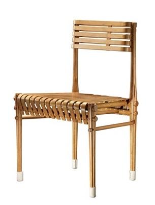竹家具独特的造型及结构设计源自于竹材的自然