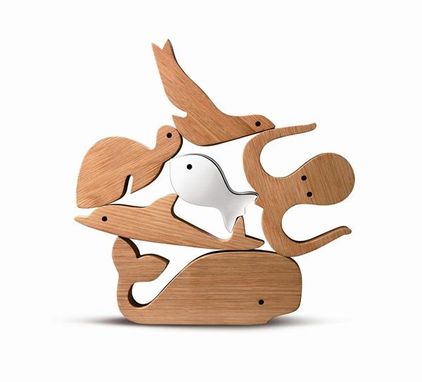 童趣积木组所有动物都可堆叠起来