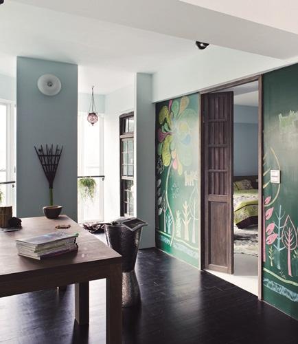 讓牆壁能盡情塗鴉畫寫的黑板漆