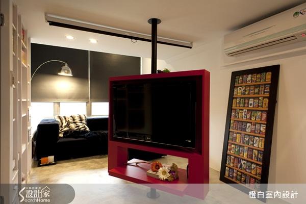 10坪小豪宅 紅黑色系展現年輕活力