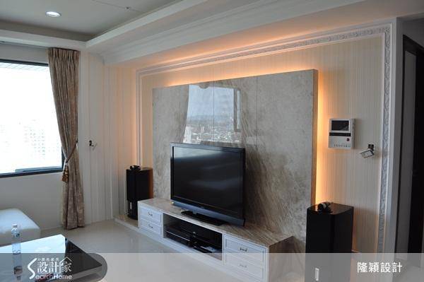 客厅大理石电视墙打造简单大气的现代氛围