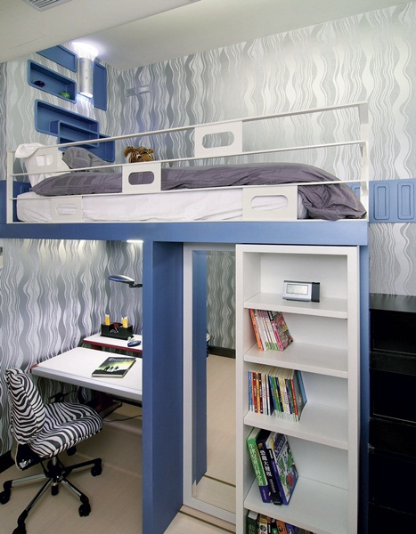 【亲子儿童房设计500】专心阅读做功课的亲子儿童房