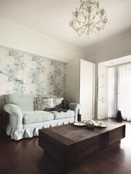 9坪拿掉浴缸,多了更衣室空间 好气质灰蓝色英式优雅空间