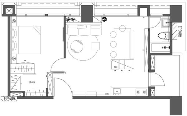 空間感放大1.5倍!「15坪小豪宅」洋溢摩登飯店風