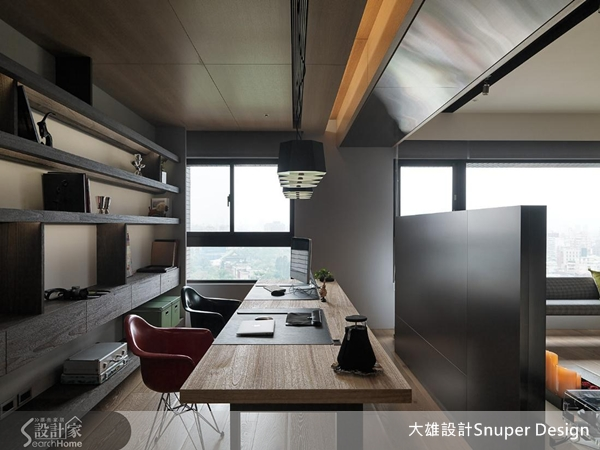 散發著個性工業感和舒適明亮的loft居家風格-設計家 Searchome