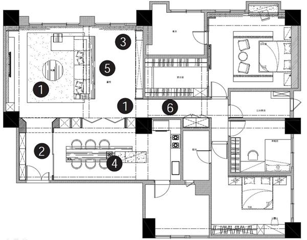 饭店格局平面设计图