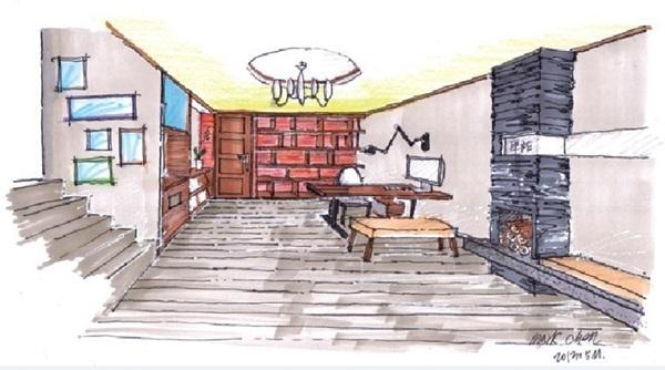 手绘图提供_九禾室内设计