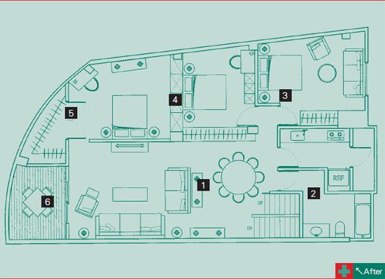 厨房布置平面图-4;