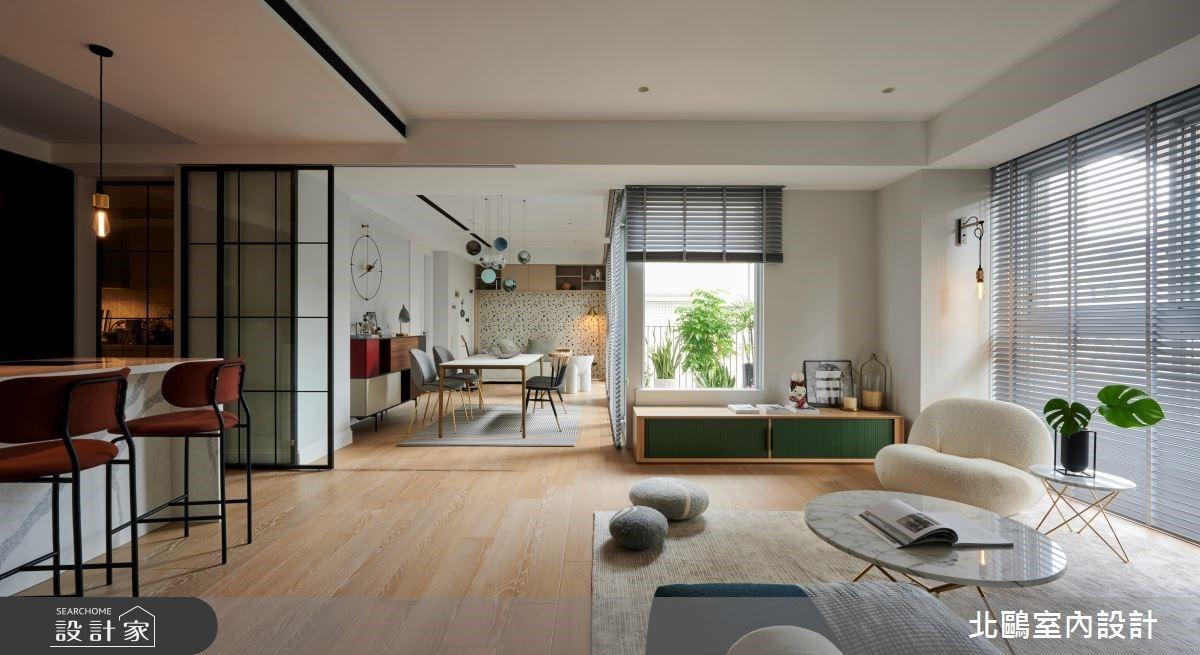 40坪清爽北歐宅,把城市窗景、陽光綠意帶回家