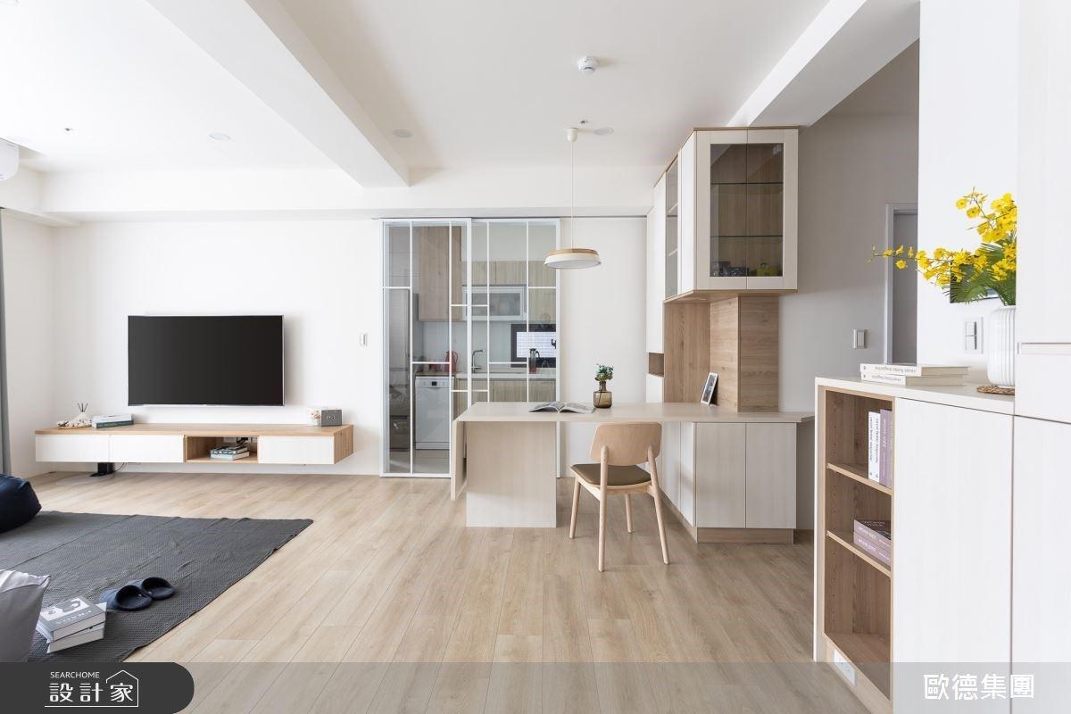 沒有沙發,25 坪更舒適!可折收餐桌、窗邊吧檯,外食族的家這樣設計